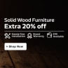Extra 20% Off On Solid Wood Furniture From Flipkart