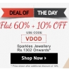 Flat 60% Off + Extra 10% Off On Sparkles Jewellery From Shoppersstop